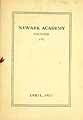 Thumbnail image of Newark Academy, April, 1927 cover
