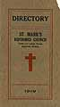 Thumbnail image of St. Mark's Reformed Church 1919 Directory cover