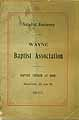 Thumbnail image of Wayne Baptist Association 61st Anniversary cover