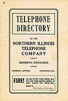Thumbnail image of Mendota 1921 Telephone Directory cover