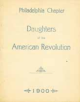Thumbnail image of Daughters of the Amer. Revolution, 1900 Philadelphia Members cover