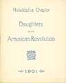 Thumbnail image of Daughters of the Amer. Revolution, 1901 Philadelphia Members cover