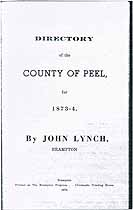 Thumbnail image of Peel 1873-4 Directory cover
