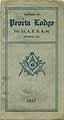 Thumbnail image of Peoria Lodge, No. 15 F. & A. M. 1922 Roster cover
