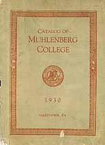 Thumbnail image of Muhlenberg College 1930 Catalog cover