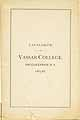 Thumbnail image of Vassar College 1885-86 Catalogue cover