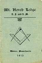 Thumbnail image of Mt. Horeb Lodge, F. & A. M. 1912 Roster cover