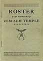 Thumbnail image of Zem Zem Temple A.A.O.N.M.S. 1919 Roster cover