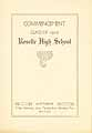 Thumbnail image of Roselle High School 1910 Commencement cover