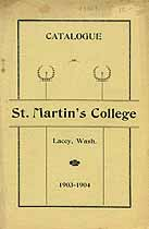 Thumbnail image of St. Martin's College 1903-04 Catalogue cover