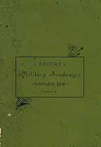 Thumbnail image of Brooks Military Academy 1884-5 Register cover