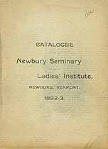 Thumbnail image of Newbury Seminary & Ladies' Institute 1892-3 Catalogue cover