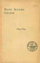 Thumbnail image of Mt. Holyoke College 1894-1895 Catalogue cover