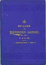 Thumbnail image of Bedford Lodge, F. & A. M. 1893 By-Laws cover