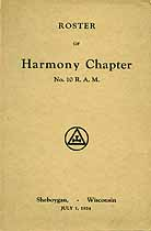 Thumbnail image of Harmony Chapter R. A. M. 1924 Roster cover