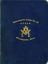 Thumbnail image of Minneapolis Lodge, F. & A. M. 1910 Blue Book cover