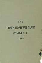 Thumbnail image of The Town and Gown Club 1899 Members cover