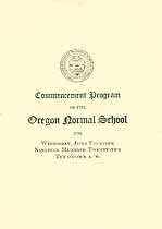 Thumbnail image of Oregon Normal School 1922 Commencement cover