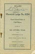 Thumbnail image of Maverick Lodge, No. 6294 of Odd Fellows 1905 Roster cover