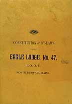 Thumbnail image of Eagle Lodge, No. 47 of I.O.O.F. 1900 Roster cover