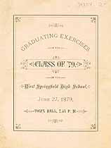 Thumbnail image of West Springfield High School 1879 Graduation cover