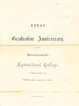 Thumbnail image of Massachusetts Agricultural College 1871 Graduation cover