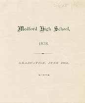 Thumbnail image of Medford High School 1878 Graduation cover