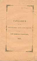 Thumbnail image of New Hampton Academical and Theological Institution 1847 Catalogue cover