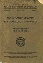Thumbnail image of Newcomb Memorial College 1923-1924 Announcement cover