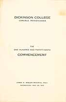 Thumbnail image of Dickinson College 1912 Commencement cover