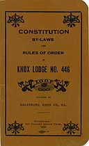 Thumbnail image of Knox Lodge No. 446, I.O.O.F. 1926 Roster cover