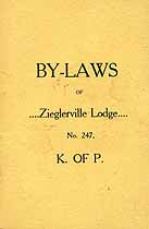 Thumbnail image of Zieglerville Lodge No. 247 K. of P. 1905 Roster cover
