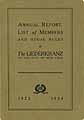 Thumbnail image of The Liederkranz 1923-1924 Annual Report cover