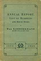 Thumbnail image of The Liederkranz 1924-1925 Annual Report cover