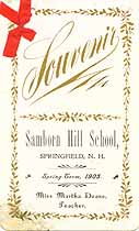 Thumbnail image of Samborn High School 1905 Souvenir cover