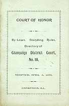 Thumbnail image of Champaign District Court, No. 18, 1898 Roll of Members cover