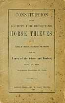 Thumbnail image of Mass. Society for Detecting Horse Thieves 1880 Members cover
