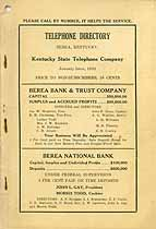 Thumbnail image of Berea 1930 Telephone Directory cover