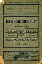 Thumbnail image of Sterling and Rock Falls 1926 Telephone Directory cover