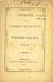 Thumbnail image of Williams College 1845-6 Catalogue cover