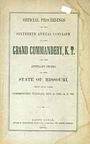 Thumbnail image of Missouri Grand Commandery 1876 Proceedings cover