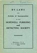 Thumbnail image of Hopewell Pursuing and Detecting Society Charter Members cover