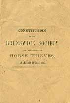 Thumbnail image of Brunswick Society for Apprehending Horse Thieves 1867 Members cover