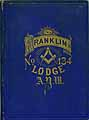 Thumbnail image of Franklin Lodge, No. 134, A.Y.M. 1873 Members cover
