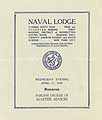 Thumbnail image of Naval Lodge, F. & A. M. 1928 Summons cover