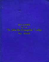Thumbnail image of St. John the Evangelist Lodge 1922 By-Laws cover