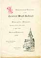 Thumbnail image of Central High School 1902 Commencement cover