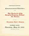 Thumbnail image of Frederick Hospital Nursing School 1924 Commencement cover