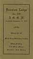 Thumbnail image of Directory of Boonton Lodge, No. 170 of I.O.O.F. cover