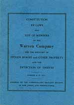 Thumbnail image of Warren Company 1906 List of Members cover